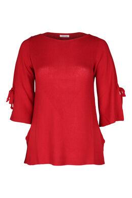 Pullover mit Bindebändern, Rot