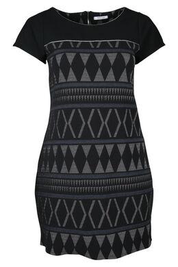 Jacquard-Kleid, Schwarz