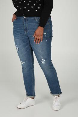 Jeans mit Rissen, Denim