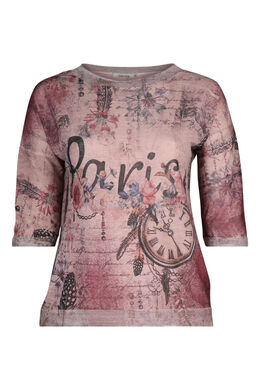 "T-Shirt ""Paris"", Alte Rosa"