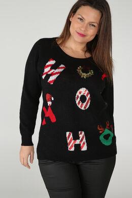 Weihnachtspullover, Schwarz
