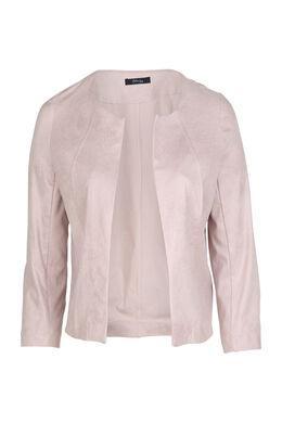 Jacke aus Lederimitat, zartrosa