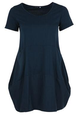 Halblanges, einfarbiges Kleid, Marine