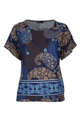 T-Shirt aus warmem Material, Indigo