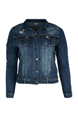 Jeansjacke mit Schmuckelementen, Denim