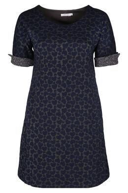 Bedrucktes Jacquard-Kleid, Marine