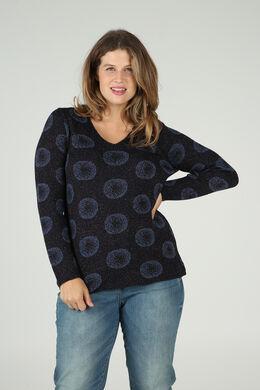 Pullover mit kreisförmigem Print, Marine