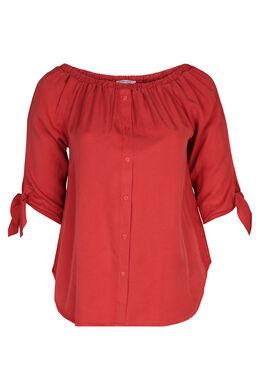 Bluse aus Lyocell, Orange