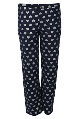 Pyjama-Hose mit Herzchendruck, Marine