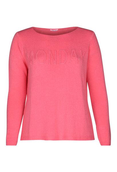 "Pullover mit Schriftzug ""Monday"" - Rosa"
