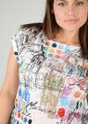 Bedrucktes T-Shirt, weiß