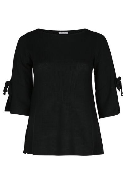 Pullover mit Bindebändern - Schwarz