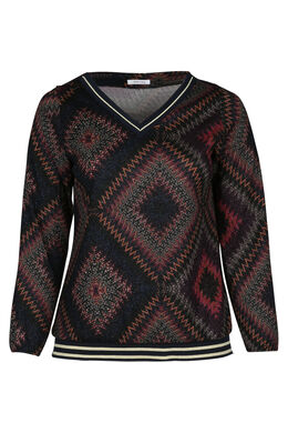 T-Shirt mit Missoni-Print und Lurex, Multicolor