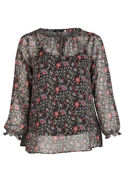 Bluse mit Blumenaufdruck - Bordeaux