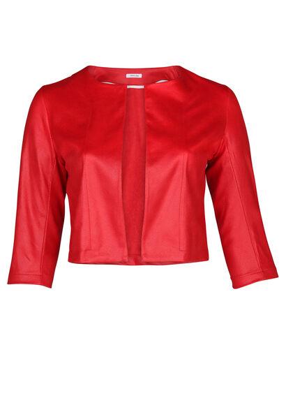 Kurze Jacke aus Wildleder - Rot
