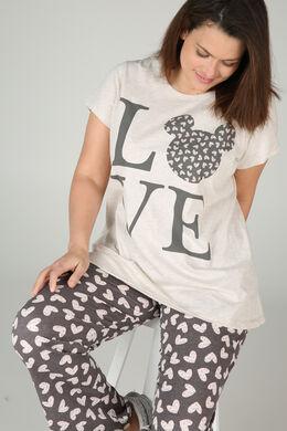 Bedrucktes Pyjama-Shirt, Beige