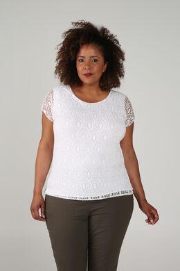 Bedruckte Bluse mit Pailletten, weiß