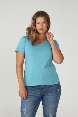 Mit Tupfen bedrucktes T-Shirt aus Bio-Baumwolle, Himmel