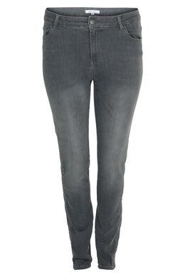 Bestickte Jeans, Grau