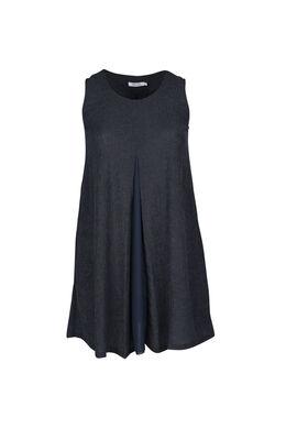 Tunika-Kleid aus Voile, Marine