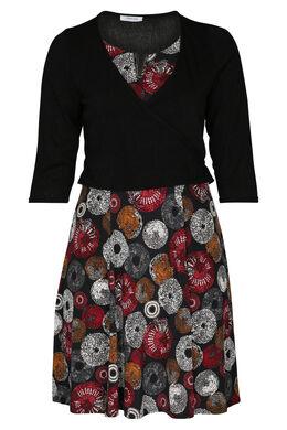 Kombination Kleid und Jacke, Rot