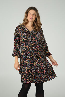 Tunika-Kleid mit Blumen-Print, Multicolor