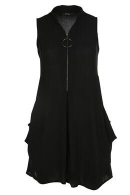 Tunika-Kleid, Schwarz
