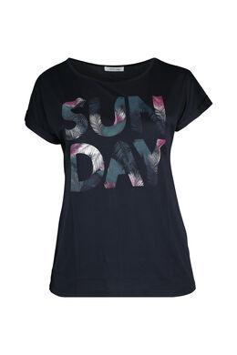 """T-Shirt mit Aufdruck """"Sun Day"""", Marine"""