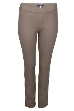 Einfarbige Jegging, Taupe