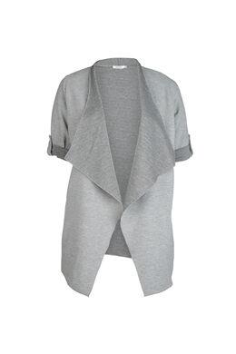 Jacke aus gestreiftem Gewebe, Grau