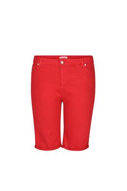 Bermuda-Shorts im 5-Pocket-Stil, Rot