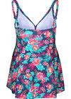 Mit tropischen Motiven bedrucktes Badekleid, Multicolor
