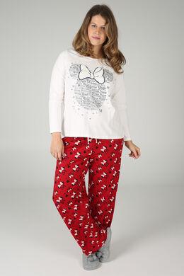 Pyjama mit Minnie-Maus-Print, Rot