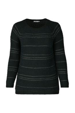 Pullover mit Lurex-Streifen, Grün