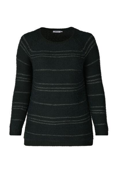 Pullover mit Lurex-Streifen - Grün