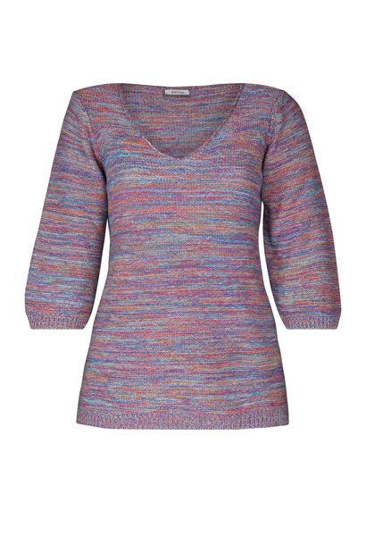 Streifen-Pullover mit 3/4-Ärmel - Multicolor