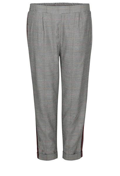 Karierte City-Hose mit Sportswear-Streifen - Schwarz