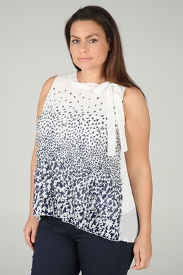 Plissee-Bluse, naturfarben