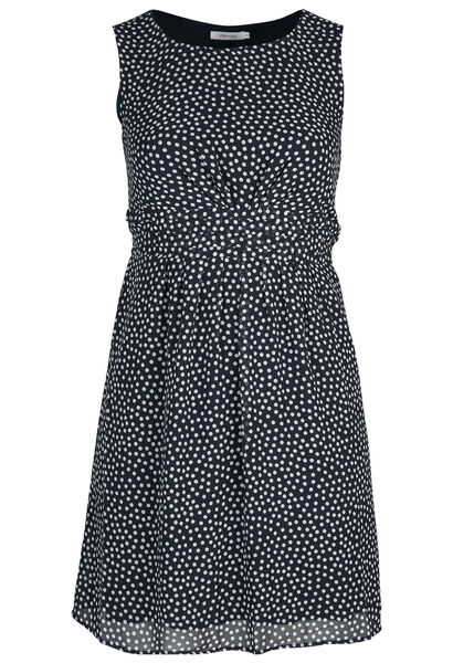 Kleid aus bedrucktem Voile - Marine