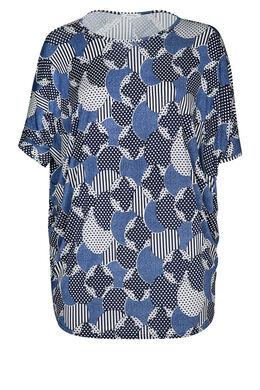 Tunika t-shirt mit Rubberprint, Marine