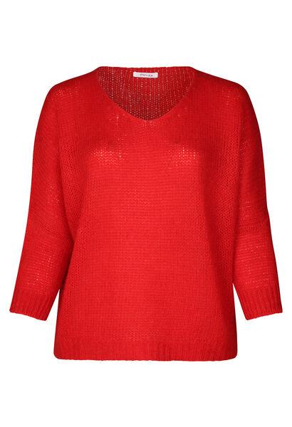 Pullover mit Oversize-Ärmeln - Orange