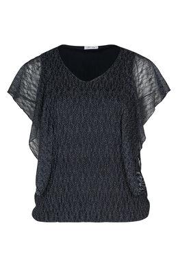 Rubberprint-T-Shirt aus Spitze, Marine