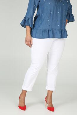 Bengaline-Hose mit Einsatz an der Taille, weiß