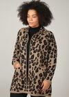 Jacke mit Leoparden-Print, Kamel