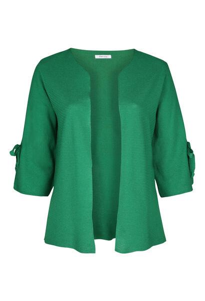 Langärmeliger Cardigan mit Bindedetail - Grün
