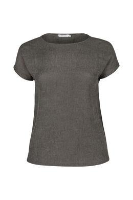 T-Shirt aus Kreppstoff, Khaki
