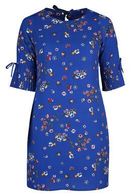 Kleid mit Blumendruck, Blau Bic