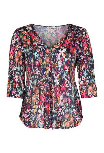 T-Shirt mit Blumen-Print - Multicolor