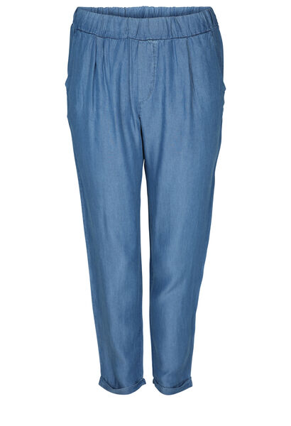 Caprihose aus Lyocell-Jeans - Denim