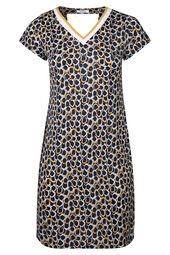 Mit Kreisen bedrucktes Kleid